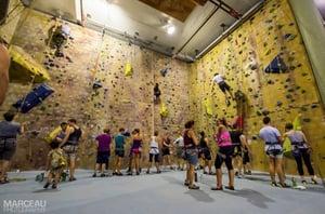 Rock climbing at Climb Fit, St Leonards